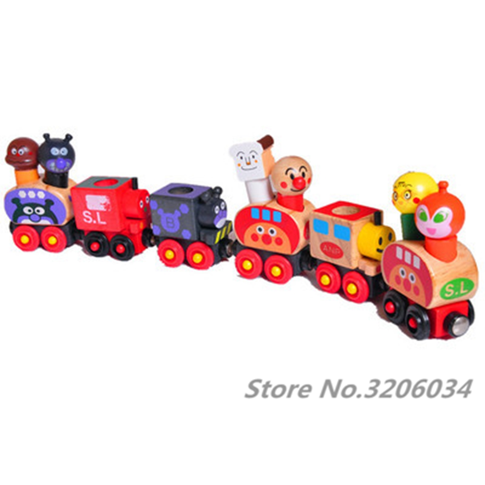 US $11 06 |2017 Wooden Toys Baby Puzzle Puppet Toys Children Small Train  Set Baby Toys Vehicle Puzzle Magnetic Wooden Wooden high quality-in Puzzles