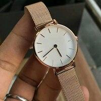 Элитный бренд классический 32 мм модные наручные часы для женщин Милан нержавеющая сталь Группа Леди Кварцевые часы Relogio Feminino