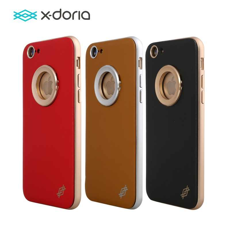 X-Doria Bump Leather Series Phone Case for Coque iPhone 6 Plus Leather Cover    64d769411815