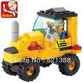Educación de BRICOLAJE Juguetes para niños Bloques De Construcción Sluban tractor autoblocante ladrillos Compatibles con Lego