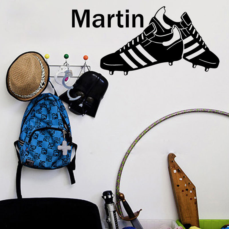 Gy06 Sports Shoes Customize Name Wall Decor Sticker Decal Boys Kids Baby Room Nursery Beautify The
