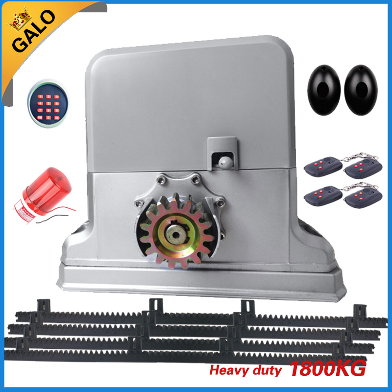 High quality 500-1800kg door automatic rolling sliding gate opener with 4 meters of nylon gear racks to move gate open the ivory white european super suction wall mounted gate unique smoke door