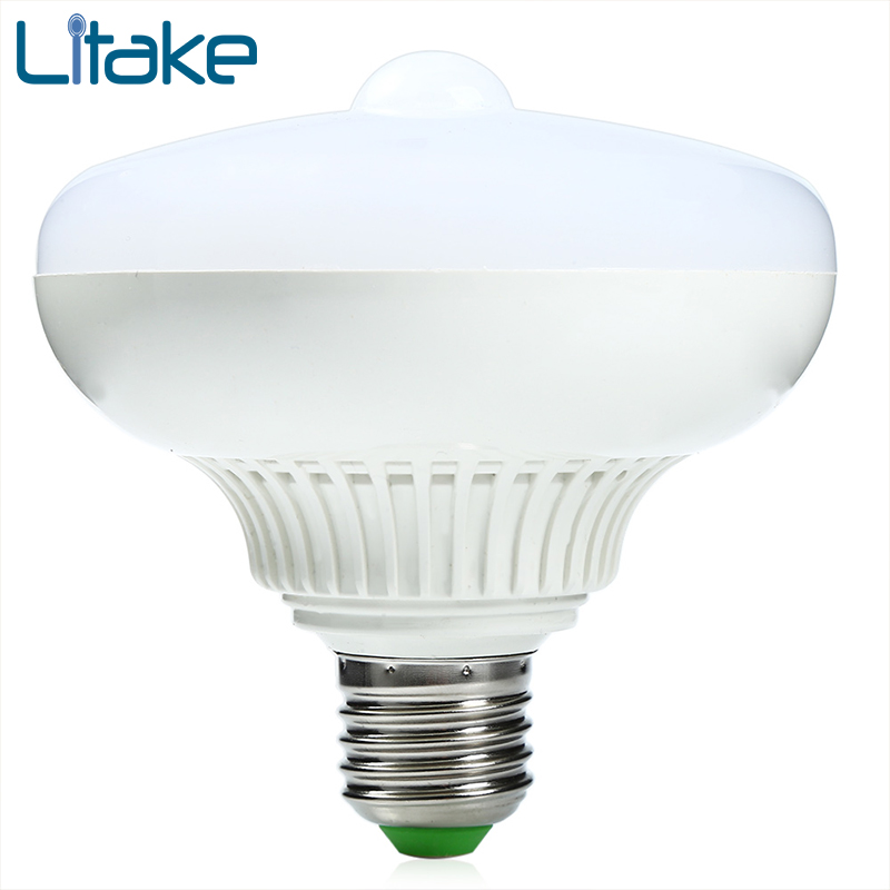 Litake LED Lamp E27 12w LED Infrared Motion Detection Light Auto Switch Stairs Night Lights Warm White Motion Sensor Lamp litake led bulb lamp energy saving motion activated light bulb e27 9w pir infrared motion sensor light pir stairs night light