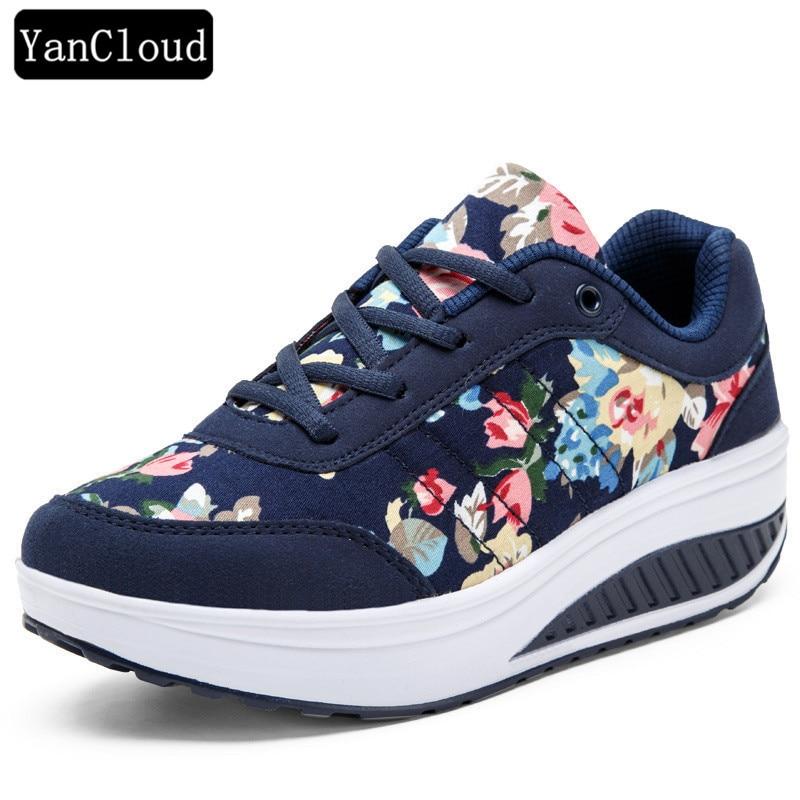 Señoras del verano zapatos respirables ocasionales mujeres zapatos - Zapatos de mujer