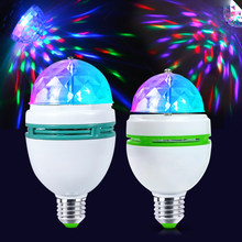 Holiday Party Supplies DIY Decoration RGB LED Glow Bulb Stage Effect glowing Lamp Rotating Lights E27 3W 6W AC85-265V Christmas(China)