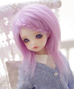 BJD Doll Fur Wig for 1/3 1/4 1/6 BJD DD SD MSD MDD YOSD doll purple long straight fur wigs(China)