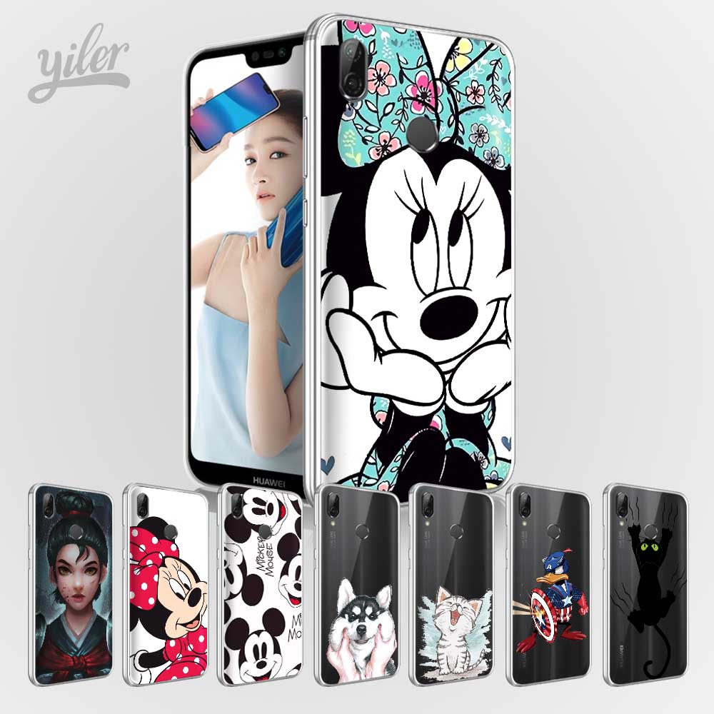 Cute Mini Mouse Case for Coque Huawei P20 P20 Pro P20 lite P Smart Cat Case for Funda Huawei Honor 9 lite 8lite 8 6A 7X 10 Cases ...