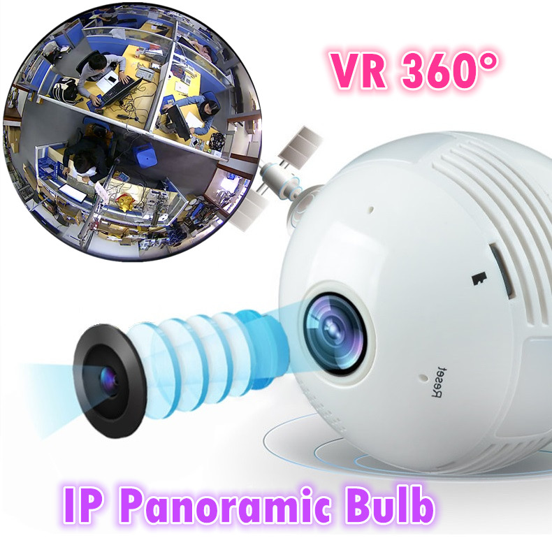 Fisheye mega wifi camera v380 software VR 360 degree wireless Panoramic light  Camera network light bulb light bulb camera vr 360 degrees wifi3d fisheye panoramic light camera network led