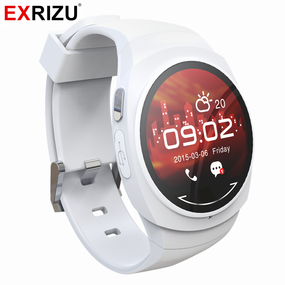 EXRIZU UO Montre Smart Watch Bande de Santé Smartwatch Boussole Podomètre Compass Alarme Horloge Message D'appel pour Android iPhone Xiaomi Huawei
