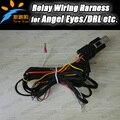 Angel eyes levaram luzes diurnas pagar cablagens on/off switch kit Universal use frete grátis