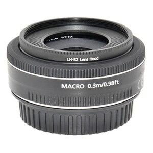 Image 4 - Foleto ES 52 metalowa osłona przeciwsłoneczna cień LH 52 obiektyw aparatu ochrona dla Canon EF S 24mm f2, 8 STM EF Canon 40mm EF f/2.8 STM