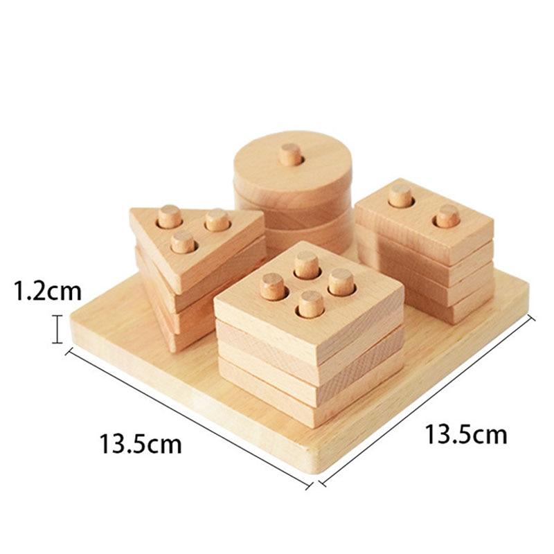 madeira formas geometricas blocos educacao toy para bebe bm88 05