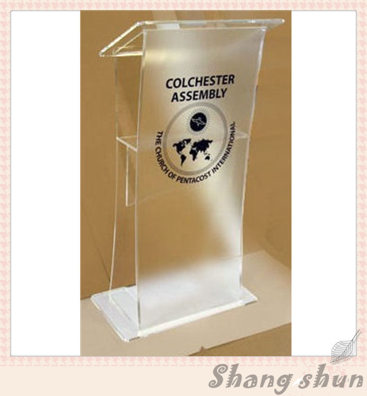 Transparent acrylic podium pulpit lectern plexiglass lecterns with logo printing 1pcs ke fs v11p automation industrial use plc module industry industrial e