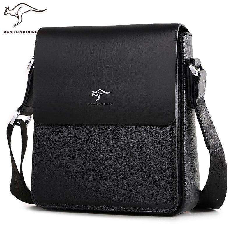 Kangaroo Königreich Luxus Marke Männer Tasche Split Leder Business Casual Männlichen Crossbody Schulter Messenger Taschen-in Crossbody-Taschen aus Gepäck & Taschen bei  Gruppe 1