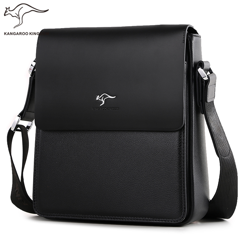 Kangaroo Kingdom Luxury Brand Men Bag Split Leather Business Casual Male Crossbody Shoulder Messenger Bags kangaroo kingdom famous brand nylon men bag chest pack male one shoulder crossbody messenger bags