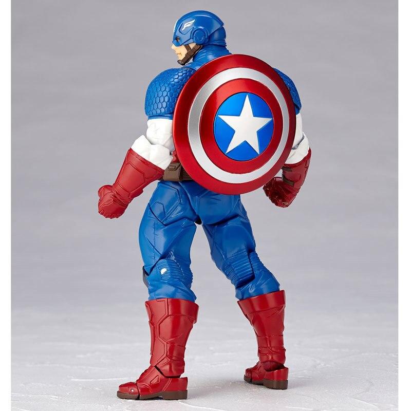 Revoltech Amazing Red Venom Carnage Amazing Captain America Spiderman Magneto Wolverine X-men Action Figures Toy Doll (11)