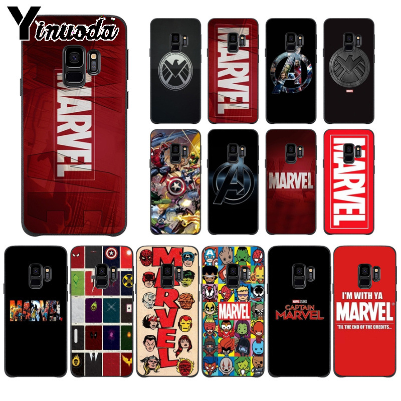 Yinuoda Marvel Comics logo DIY Printing Drawing Phone Case for Samsung S9  S9 plus S5 S6 S6edge