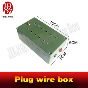 Image 5 - Escape room takagism game props plug wire box all the wires are inserted into the right sockets to unlock charmber room JXKJ1987
