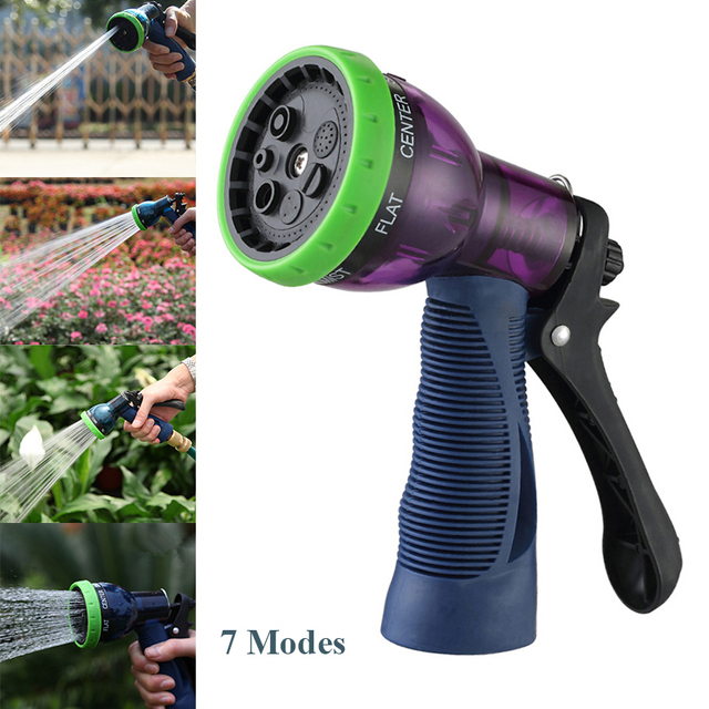 Delightful Plastic 7 Modes High Pressure Nozzle For Garden Hose Washing Sprinkler Sprayer  For Car Pet Agriculture