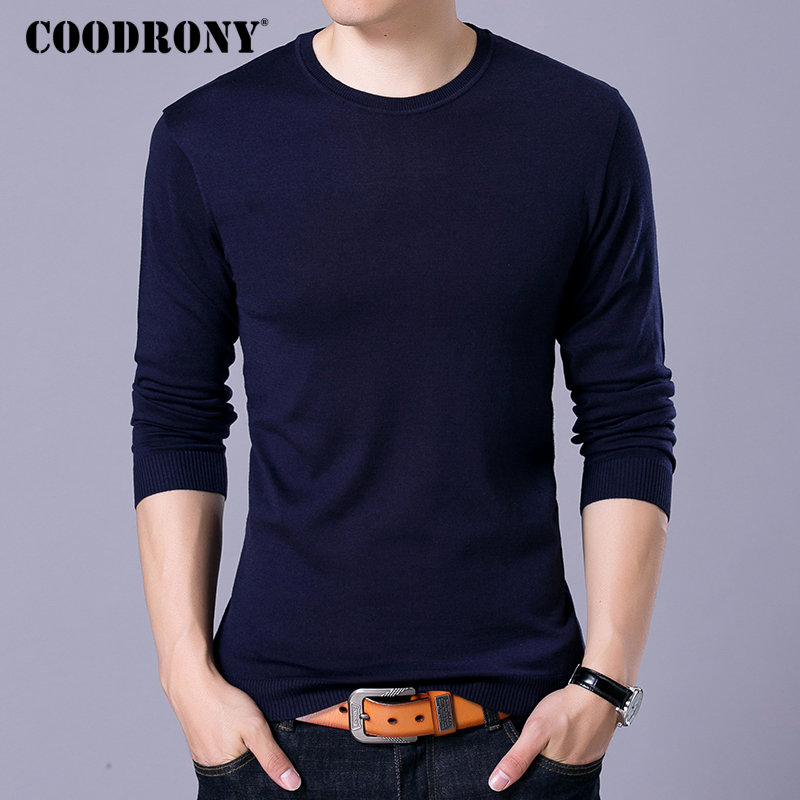 COODRONY Pullover Men Sweaters Winter O-Neck Homme Woolen Autumn Casual Classic 91055
