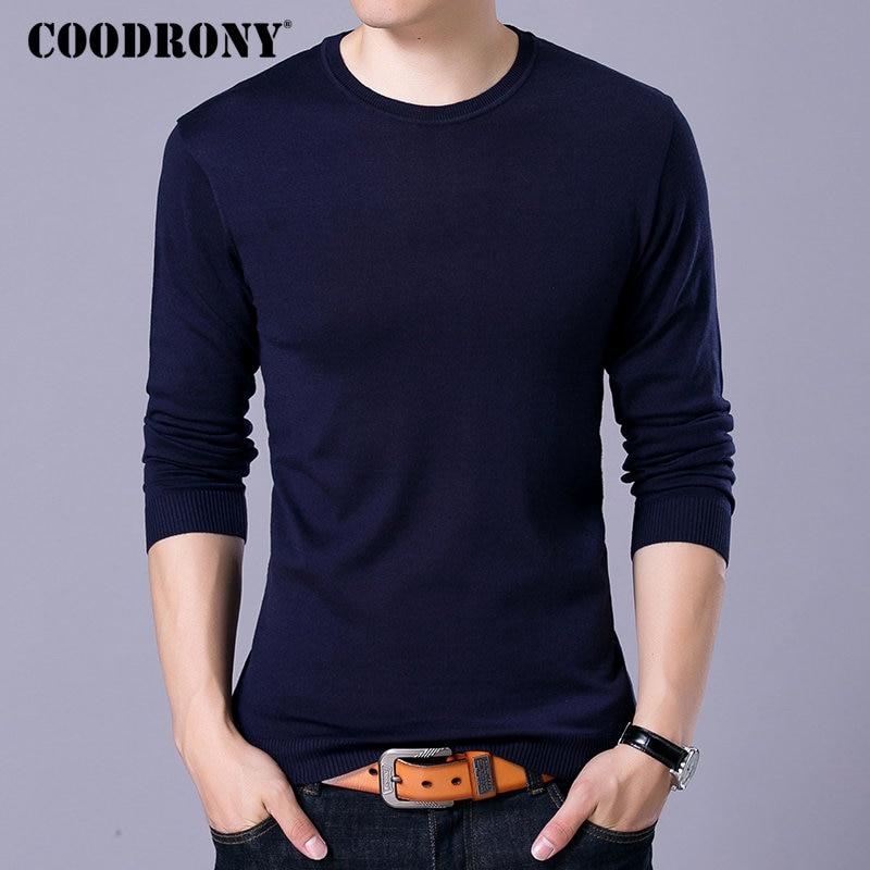 COODRONY Brand Sweater Men Knitwear Pull Homme Streetwear Classic Casual O-Neck Pullover Men Autumn Winter Woolen Sweaters 91055