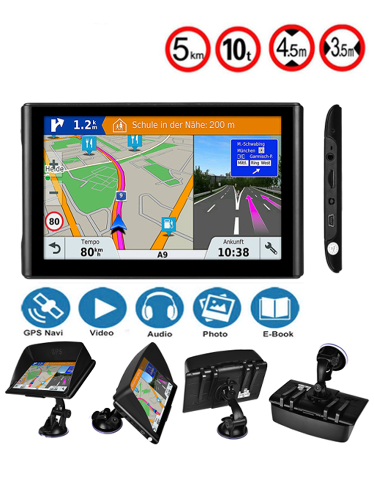 US $43 68 4% OFF|CarGPS navigator 7inch HD truck GPS Car navigation FM  Bluetooth navitel 2019 latest European map satellire navigaton-in Vehicle  GPS