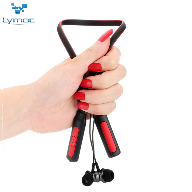 LYMOC HT-1 Neckband Bluetooth Headsets Sport Music Wireless Earphones Heavy Bass Stereo HD Microphone Phone Headphones Handsfree