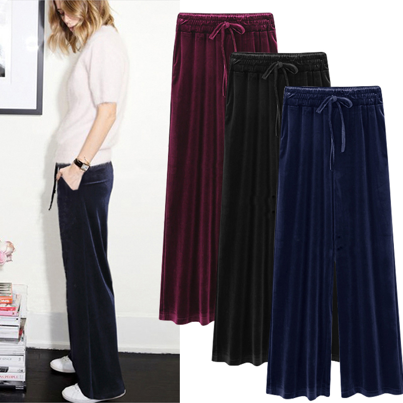 Pants & Capris Punctual Women Loose Wide Led Pants Drawstring Elastic Waist Mid Waist Comfortable Print Star Flag Causal Plus Size Trousers Bottom