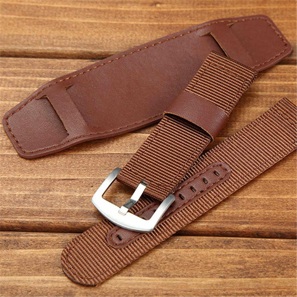 9d8dbfd3c01 ... Way Deng - Men s Vintage Military Army Nylon Watchband 18 20 22 MM PU