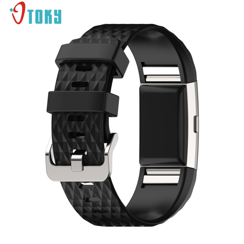 Excellent Quality Small and Large Size Silicone Watch Band Sport Watch Strap Bracelet For Fitbit Charge 2