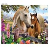 5D Round Full Diamond Painting Animal Horses Diamond Mosaic Embroidery Cross Stitch Handmade Crafts Home Decoration