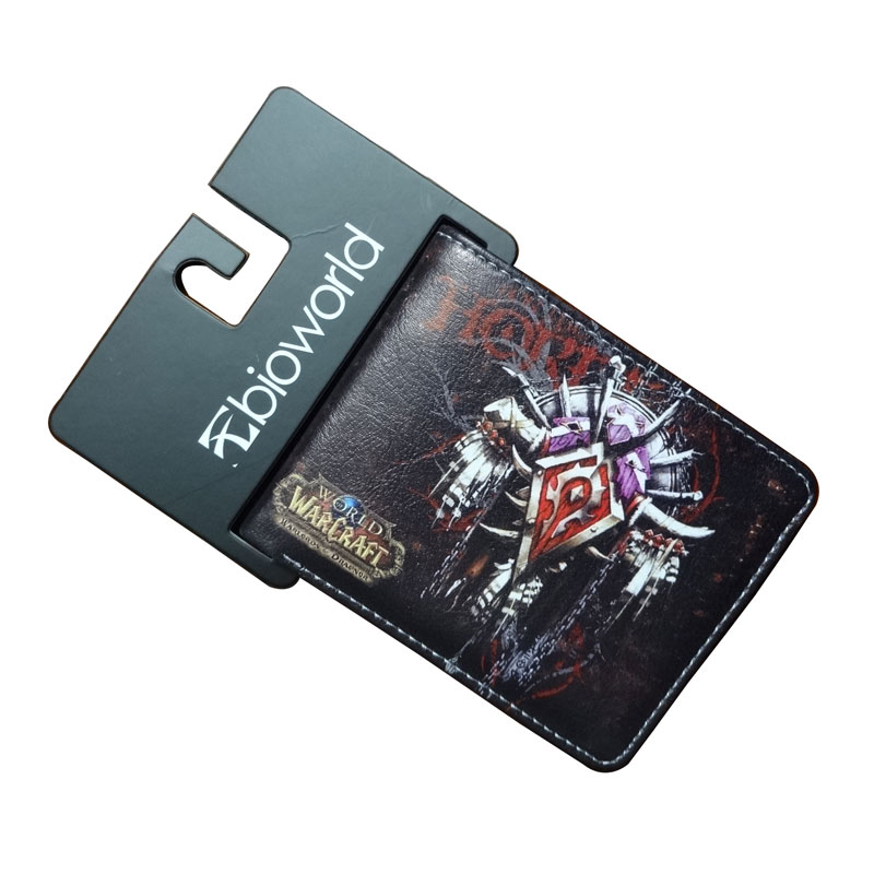 Games World Warcraft Wallets Comics Animation Purse Creative Gift for Young Leather Money Bags New Fashion Short Wallet