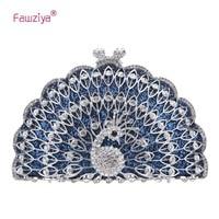 Fawziya Peacock Evening Bag Glitter Cute Animal Clutch Bags For Women Purses And Clutches