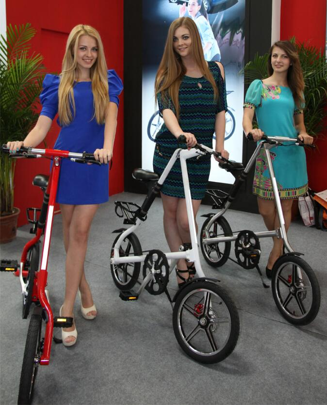 Adult folding bicycle Aluminum alloy bicycle 16 inch ladies folding scooter free shipping