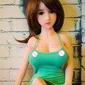 Novo 100 cm tamanho vida Real Silicone sex dolls, Muito Realistas verdadeiro silicone mini boneca sexual com peito grande por via oral/vagina brinquedos sensuais para homem