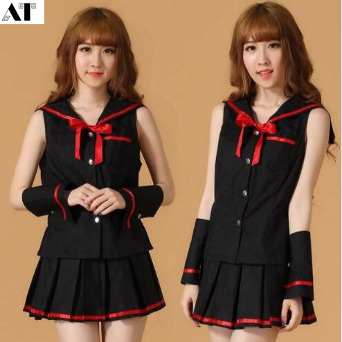 <font><b>Sexy</b></font> School Girl Costume <font><b>Halloween</b></font> Adult Role Play Games Uniform Students <font><b>Dress</b></font> Woman Cosplay image