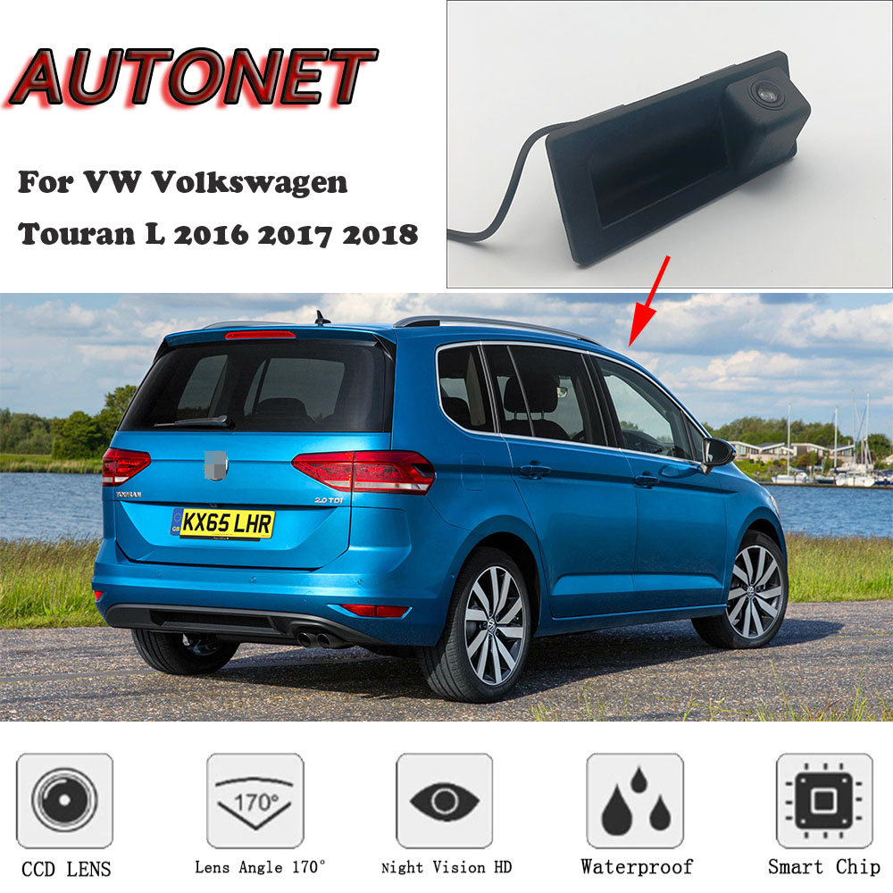 AUTONET Rear View Camera For VW Volkswagen Touran L 2016 2017 2018/Original Factory Style /Trunk Handle HD Night Visioin Camera