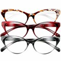 SOOLALA Ultralight Cat Eye Reading Glasses Women Men Eyewear Spectacles Eyeglasses Full Frame 0 +1 +1.5 +2 +2.5 +3 +3.5