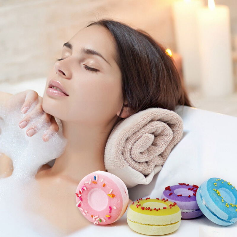 4pcs Organic Bath Bombs Bath Salts Ball Essential Oil Handmade SPA Stress Relief Exfoliating Body Care Bath Salts New 2018 ...