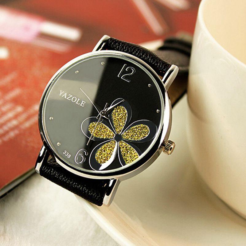 Fashion Flower Yazole Quartz Watch Women Wrist Watches Ladies Wristwatch Female Clock Quartz watch Relogio Feminino Montre Femme
