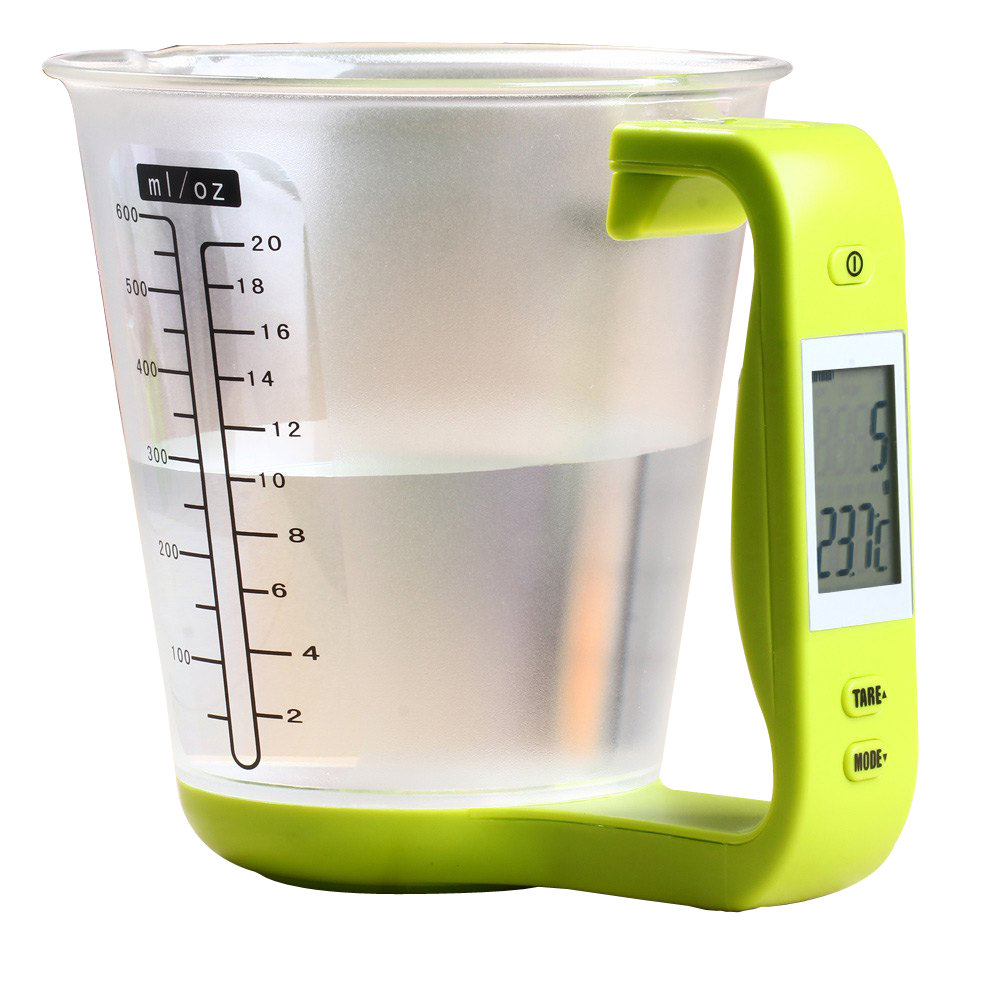 WFGOGO Digital Cup Scale Electronic Measuring Household Jug Kitchen Scales With LCD Display & Temp Measuring Cups Cooking Tools