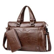 Famous Brand Business Men Briefcase Bag Luxury Leather Laptop Bag Man Shoulder Bag bolsa maleta