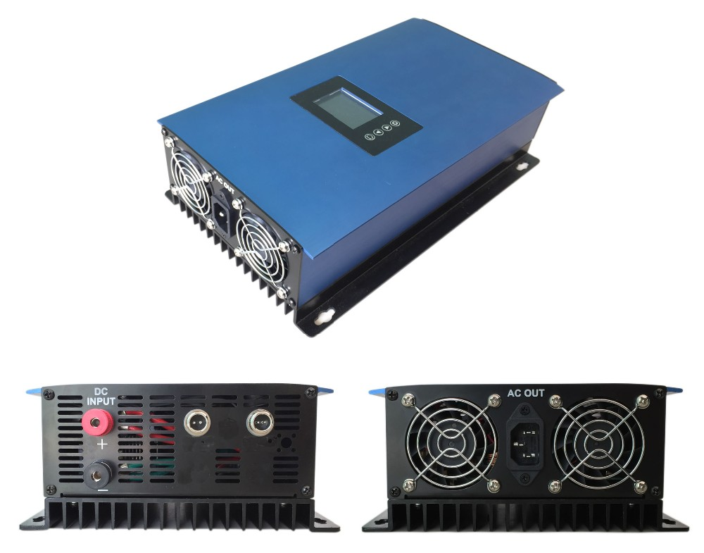 LCD 1000W Solar Grid Tie Inverter with Limiter,MPPT Pure Sine Wave Power Inverter DC22-60V/45-90V to 110VAC 600w grid tie inverter lcd 110v pure sine wave dc to ac solar power inverter mppt 10 8v to 30v or 22v to 60v input high quality