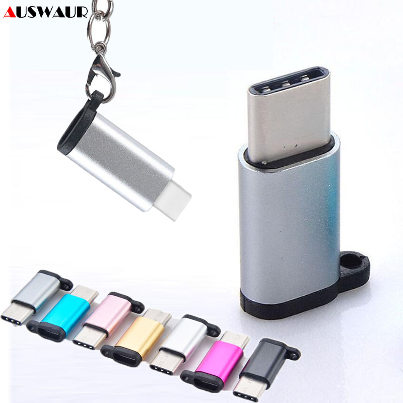 USB Type-C Type C To Micro Adapter Type C Male To Micro Female Charge Data Sync Adapter With Hanging Chain