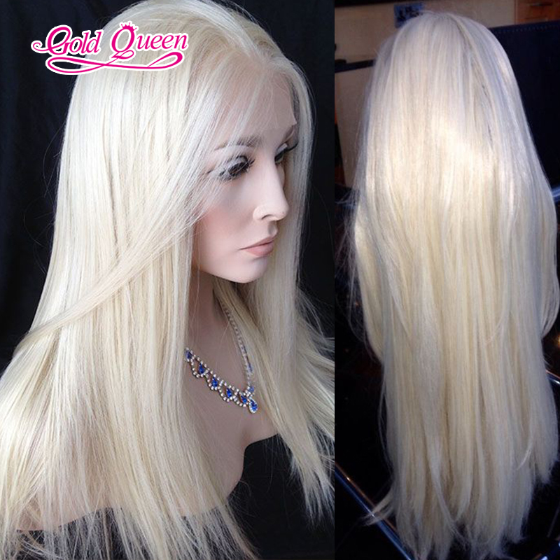 platinum blonde mongolian hair beautiful blonde human hair wig long blonde  wig human hair middle part with baby hair free ship-in Human Hair Lace Wigs  from ... 225fb08ba6ae