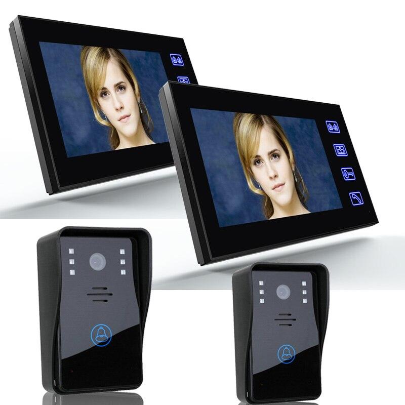 все цены на ENNIO SY816A22 7 Inch Video Door Phone Recording 1200TVL 2 IR Night Doorbell Camera and 2 Hands Free Monitor Intercom Doorbell онлайн