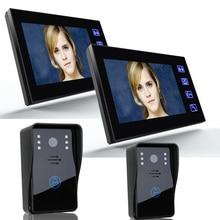 ENNIO SY816A22 7 Inch Video Door Phone Recording 1200TVL 2 IR Night Doorbell Camera and 2 Hands Free Monitor Intercom Doorbell