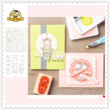 2019 New Happy Baby Metal Cutting Dies and Clear Stamps for Scrapbooking DIY Card Making Crafts Stencil