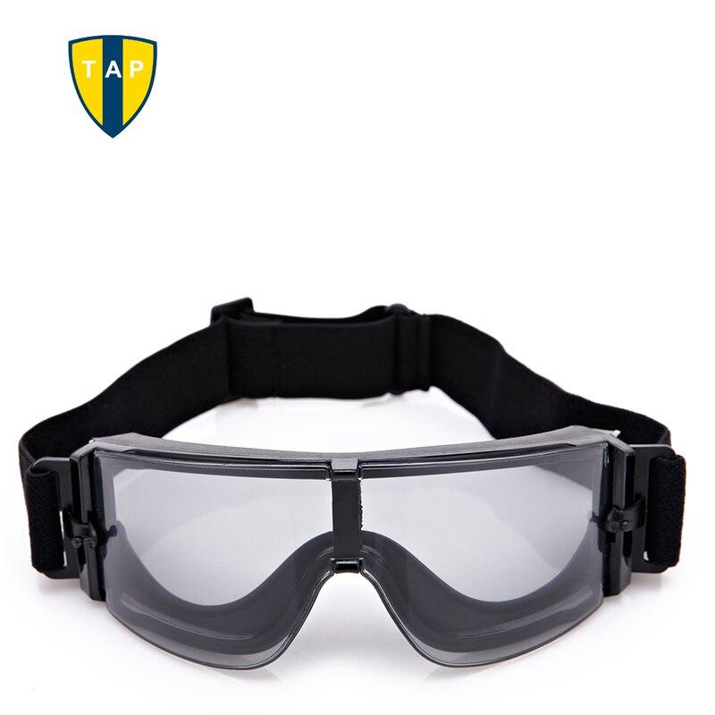 X800 Для мужчин тактические очки Военная Униформа очки мотоцикл Очки Лыжный Спорт Охота Пейнтбол армии Desert ветрозащитный 3 объектив Óculos