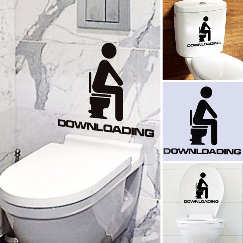 Cool Us 0 73 Funny Removable Diy Toilet Seat Decorative Decals Wc Bathroom Mildew Proof Art Vinyl Wall Sticker With Downloading Letters In Wall Stickers Ibusinesslaw Wood Chair Design Ideas Ibusinesslaworg